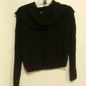 Guess black cowl neck very soft sweater